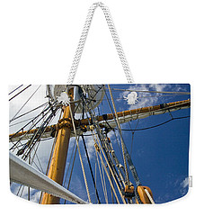 Weekender Tote Bag featuring the photograph Elizabeth II Mast Rigging by Greg Reed