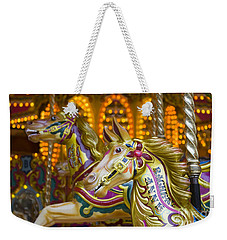 Weekender Tote Bag featuring the photograph Fairground Carousel by Lee Avison