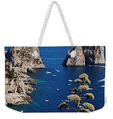 Faraglioni In Capri Weekender Tote Bag