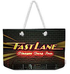 Fast Lane In Lights Weekender Tote Bag by Kelly Awad