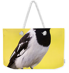 Fencepost Magpie Weekender Tote Bag by Jorgo Photography - Wall Art Gallery