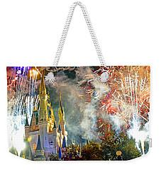Fireworks Cinderellas Castle Walt Disney World Weekender Tote Bag