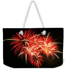 Fireworks Over Kauffman Stadium Weekender Tote Bag