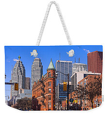 Flatiron Building In Toronto Weekender Tote Bag