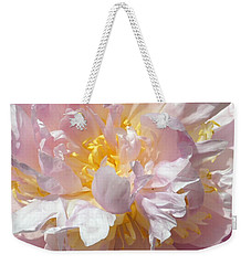 Weekender Tote Bag featuring the photograph Flirtatious Pink by Lilliana Mendez