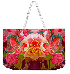 Weekender Tote Bag featuring the painting Flower Child by Omaste Witkowski