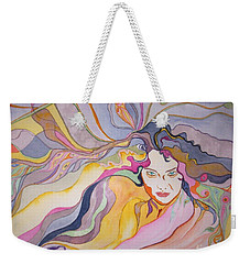 Weekender Tote Bag featuring the painting Forever by Diana Bursztein