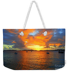 Frank Bay St. John U. S. Virgin Islands Sunset Weekender Tote Bag
