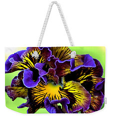 Frilly Pansy Weekender Tote Bag by Joy Watson