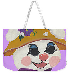 Funny Bunny Weekender Tote Bag by Barbara McDevitt