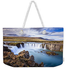 Godafoss Waterfall Weekender Tote Bag