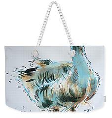 Goose Drawing Weekender Tote Bag