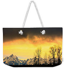Weekender Tote Bag featuring the photograph Grand Tetons Wyoming by Amanda Stadther