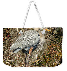 Great Blue Heron Weekender Tote Bag by Jane Luxton