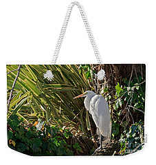 Weekender Tote Bag featuring the photograph Great Egret by Kate Brown