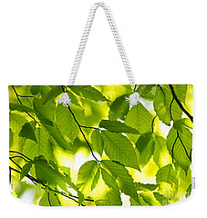 Green Spring Leaves Weekender Tote Bag