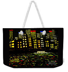 Weekender Tote Bag featuring the painting Harbour Lights by Leanne Seymour
