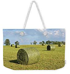 Hay Bales In Spring Weekender Tote Bag