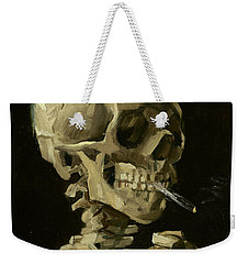 Head Of A Skeleton With A Burning Cigarette Weekender Tote Bag