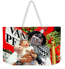 Weekender Tote Bag featuring the photograph 2 Heads Are Better Than One by Ed Weidman