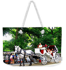 Horse And Carriage In Central Park Weekender Tote Bag