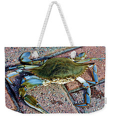 Weekender Tote Bag featuring the photograph Hudson River Crab by Lilliana Mendez
