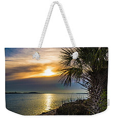 Weekender Tote Bag featuring the photograph Intracoastal Sunrise by Frank Bright