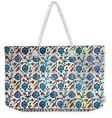 Iznik Ceramics With Floral Design Weekender Tote Bag