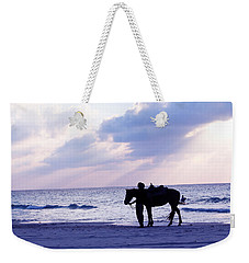 Walking Home From A Long Day Weekender Tote Bag