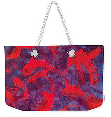 Weekender Tote Bag featuring the painting koi by Jacqueline McReynolds