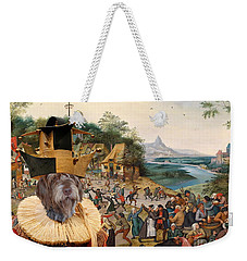 Korthals Pointing Griffon Art Canvas Print Weekender Tote Bag