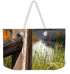 Landscape With Fence Pole Weekender Tote Bag