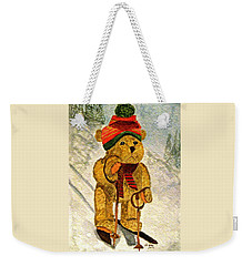 Learning To Ski Weekender Tote Bag
