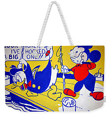 Weekender Tote Bag featuring the photograph Lichtenstein's Look Mickey by Cora Wandel