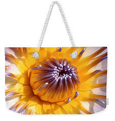Lotus Lily Weekender Tote Bag by Jocelyn Kahawai