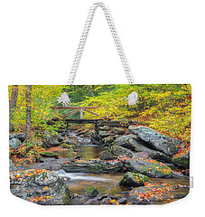 Weekender Tote Bag featuring the photograph Macedonia Brook by Bill Wakeley