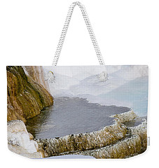 Weekender Tote Bag featuring the photograph Mammoth Terraces by Michael Chatt