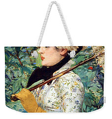 Weekender Tote Bag featuring the photograph Manet's Spring by Cora Wandel