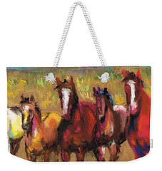 Mares And Foals Weekender Tote Bag by Frances Marino