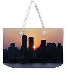 Weekender Tote Bag featuring the photograph Morning On The Hudson by Lilliana Mendez