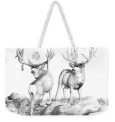 2 Muley Bucks Weekender Tote Bag