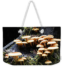 Mushrooms On A Stump Weekender Tote Bag by Chalet Roome-Rigdon