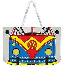 My Superhero-vw-t1-wonder Woman Weekender Tote Bag