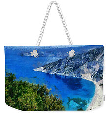 Myrtos Beach In Kefallonia Island Weekender Tote Bag