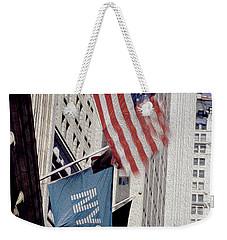 New York Stock Exchange Weekender Tote Bag by Jon Neidert