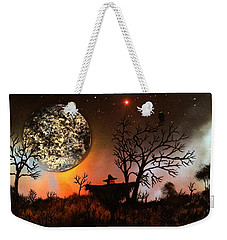 Weekender Tote Bag featuring the painting Night Of The Scarecrow  by Michael Rucker