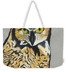 Weekender Tote Bag featuring the painting Night Owl by Jeanne Fischer