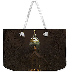 Notre Dame Golden Dome Snow Weekender Tote Bag