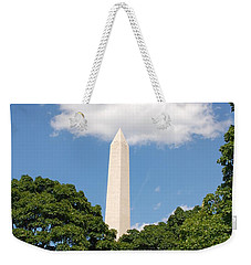Obelisk Rises Into The Clouds Weekender Tote Bag