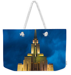 Oquirrh Mountain Lds Temple Evening Thunderstorm Weekender Tote Bag